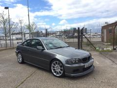My wrapped bmw e46 330ci after tinting headlights
